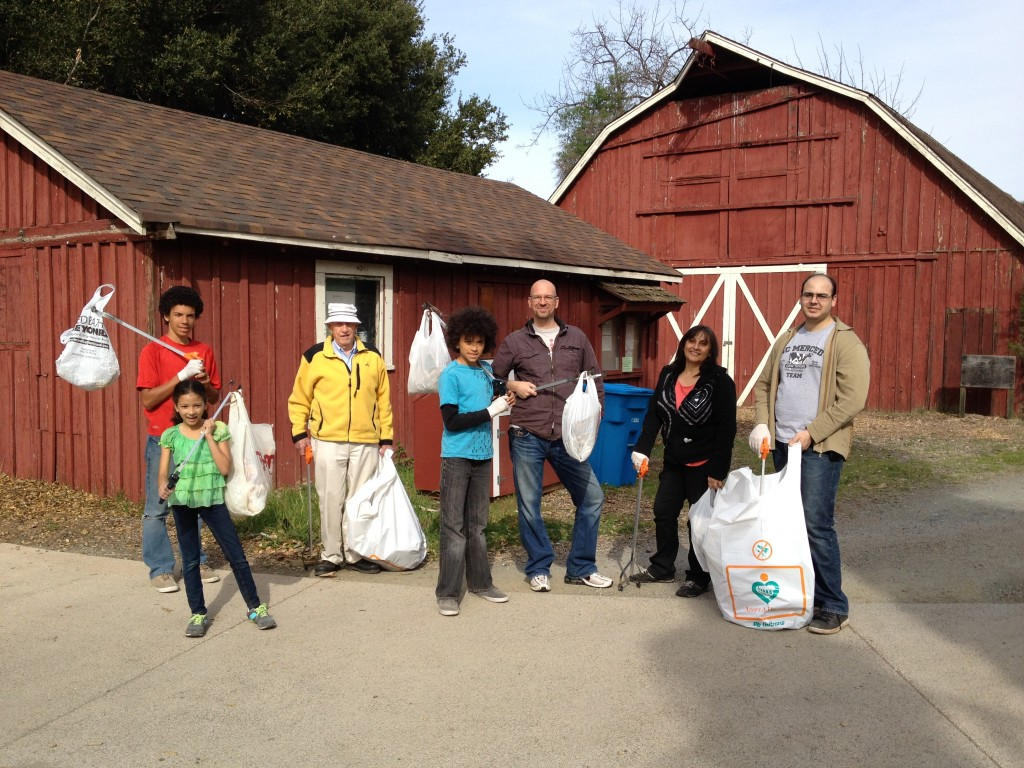 Group of Cupertino Baha'is participating in a local community service